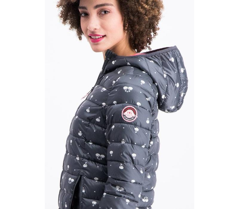 Steppacke | leichte laune longjacket | swan lake