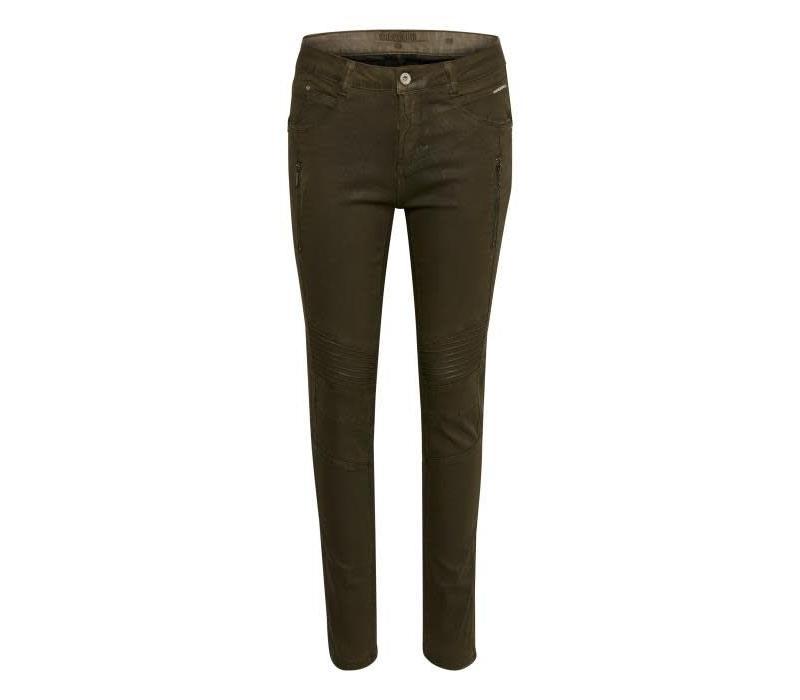 Hose | Kimmy Coated Pant - Shapefit | Crocodile Green