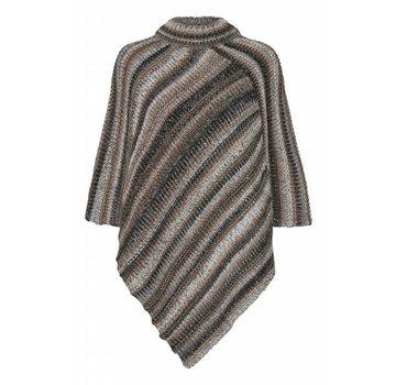Cream Clothing Poncho | Lynette poncho | Light grey melange