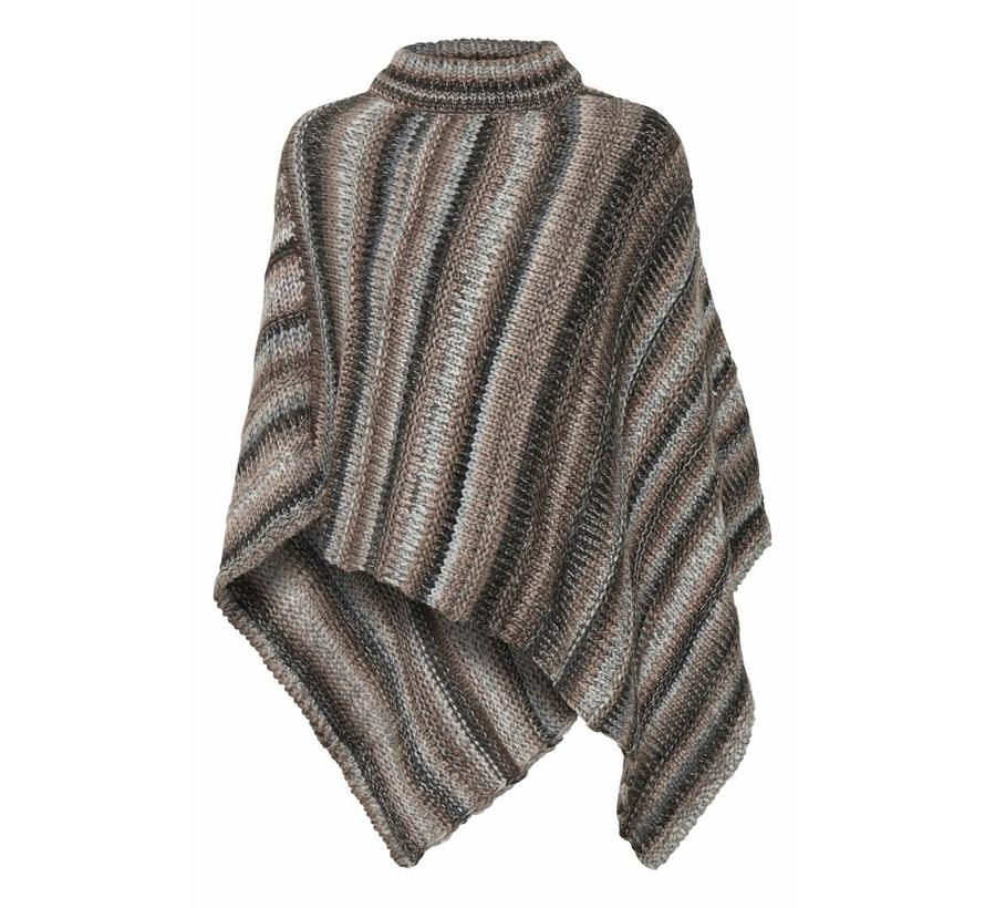 Poncho | Lynette poncho | Light grey melange