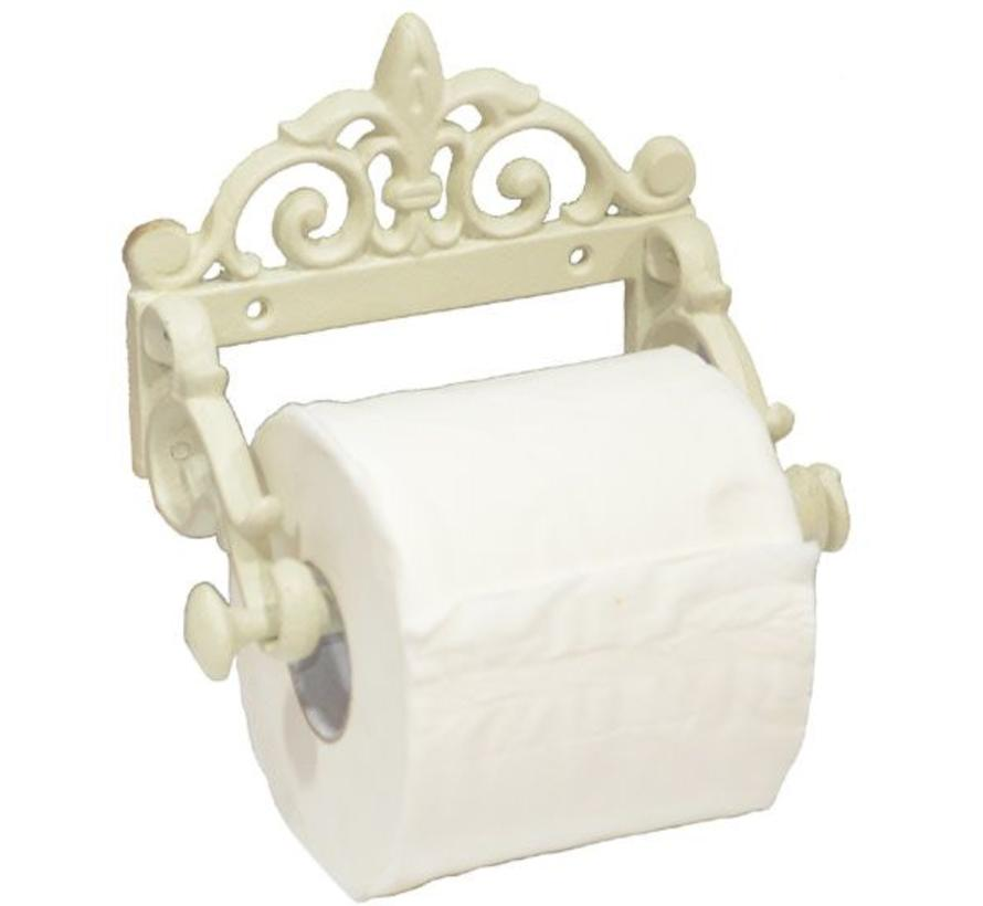 WC-Papierhalter | Shabby Chic | Cremeweiss