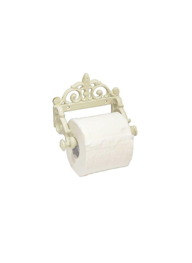 WC-Papierhalter im Shabby Chic in Weiss