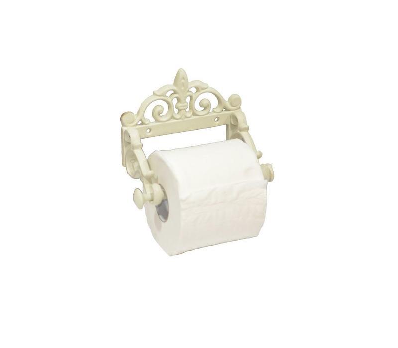 WC-Papierhalter | Shabby Chic | Cremeweiss