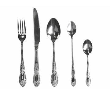 Chic Antique Besteckset 5-teilig   Silberfarben