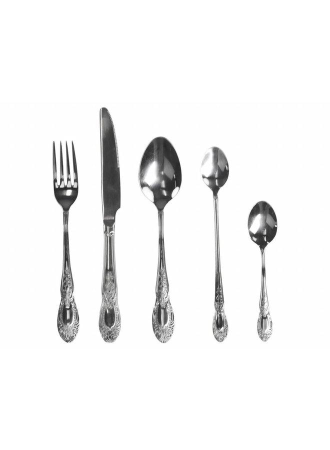 Besteckset 5-teilig | Silberfarben