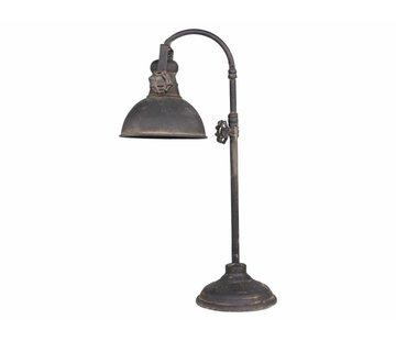 "Chic Antique Tischlampe ""Factory"" | Vintage black"