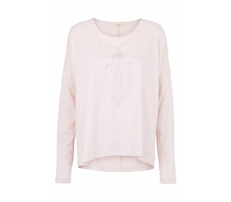 Langarmshirt | Blouse with print | Mauve