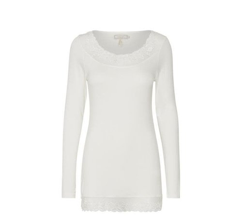 Cream Clothing Top | Florence LS Top | Chalk