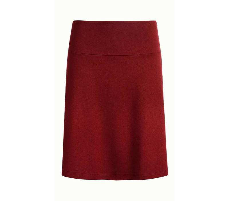 Rock | Border Skirt Milano Uni | Ribbon Red