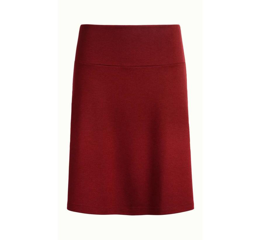 Rock | Border Skirt Milano Uni | Ribbon Red