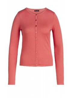 King Louie Cardigan   Cardi Roundneck Cocoon   Pink Coral