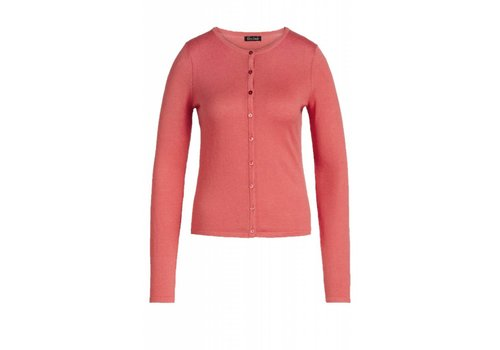 King Louie Cardigan | Cardi Roundneck Cocoon | Pink Coral