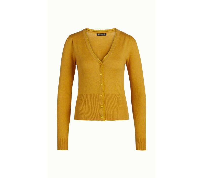 Cardigan | Cardi V Cocoon | Honey Yellow