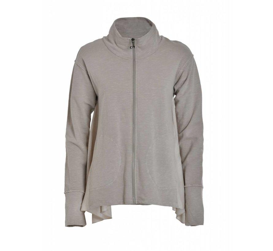 Sweatshirt mit Reissverschluss   Ash Grey