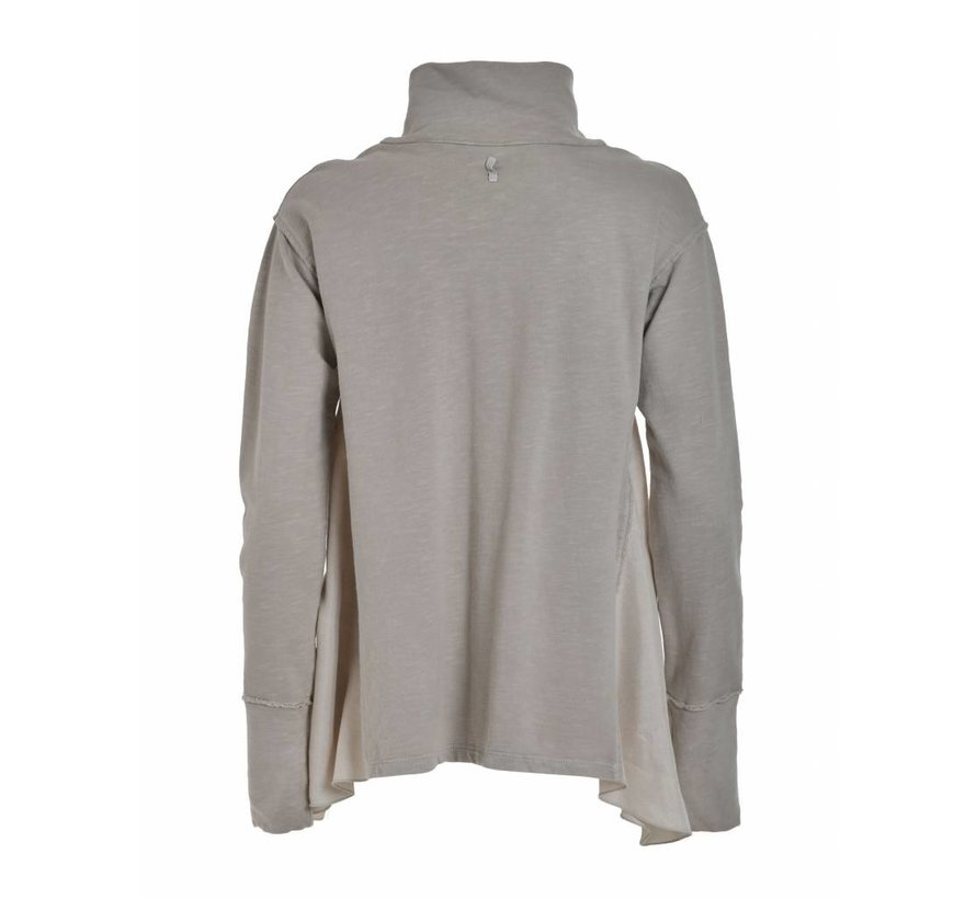 Sweatshirt mit Reissverschluss | Ash Grey