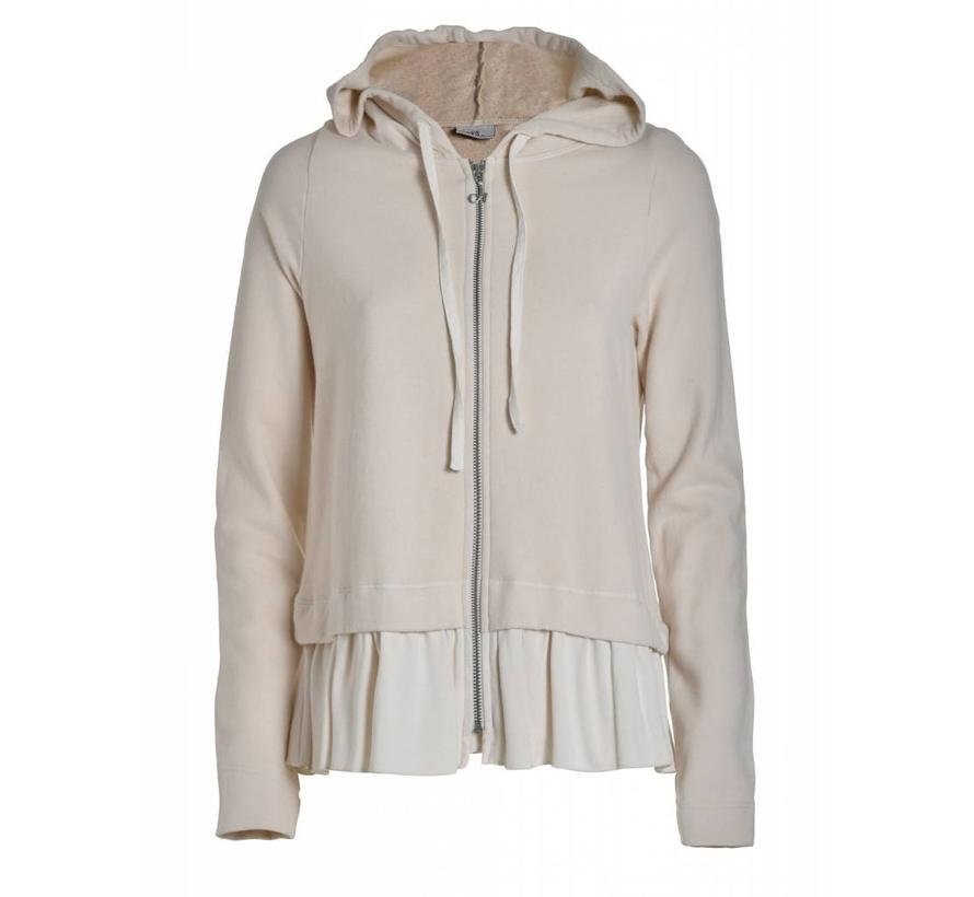 Sweatshirt mit Kaputze | Creme