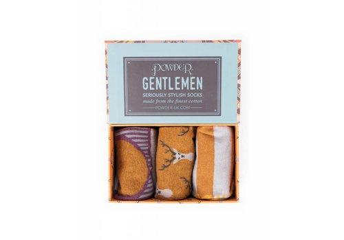 Herrensocken | Geschenkbox Hirsch | 3 Paar