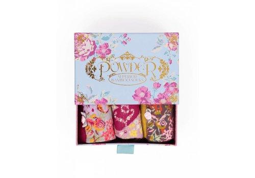 Damensocken | Geschenkbox Rose | 3 Paar