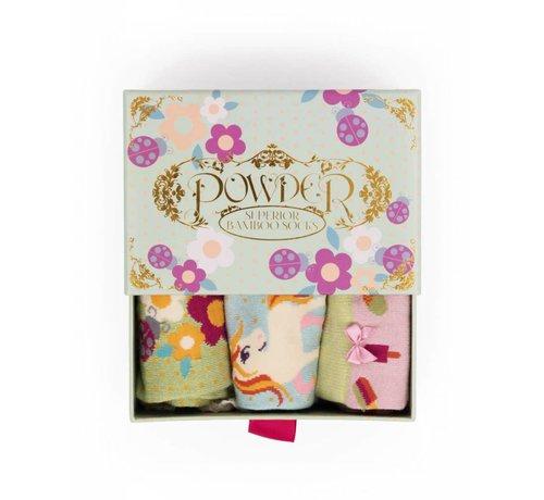 Damensocken   Geschenkbox Einhorn   3 Paar