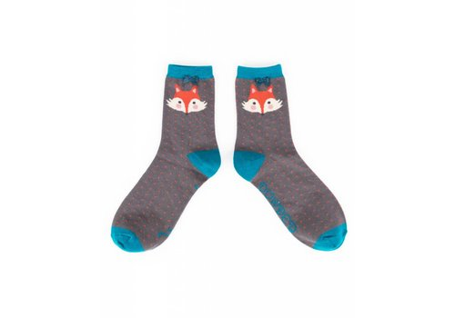 Damensocken Carcoal Fox | superweiche Bambusfasern