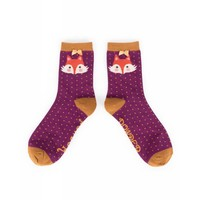 Damensocken Damson Fox | superweiche Bambusfasern