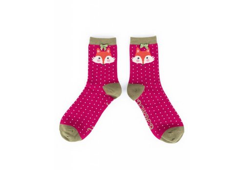 Damensocken Berry Fox | superweiche Bambusfasern