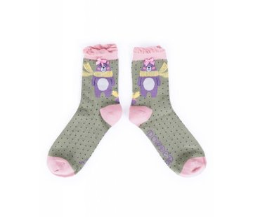 Damensocken Nerd Bear | superweiche Bambusfasern