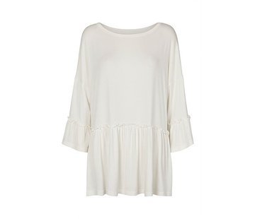 Tina Wodstrup Bluse | Frill blouse | Offwhite