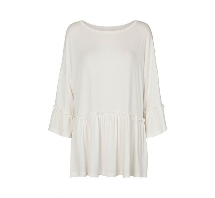 Bluse | Frill blouse | Offwhite