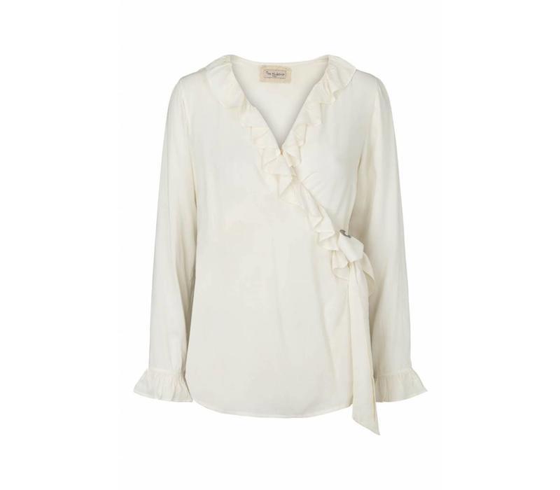 Wickelbluse   Wrap shirt   Offwhite