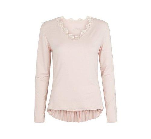 Tina Wodstrup Langarmshirt | V blouse | Mauve
