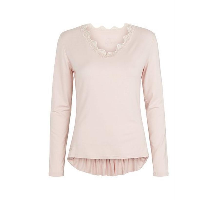 Langarmshirt | V blouse | Mauve