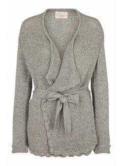 Tina Wodstrup Strickjacke | Wool/Bamboo Jacket | Light grey