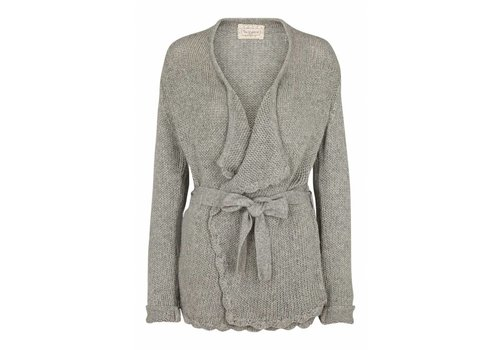 Tina Wodstrup Strickjacke | Wool/Bamboo Jacket | Light grey