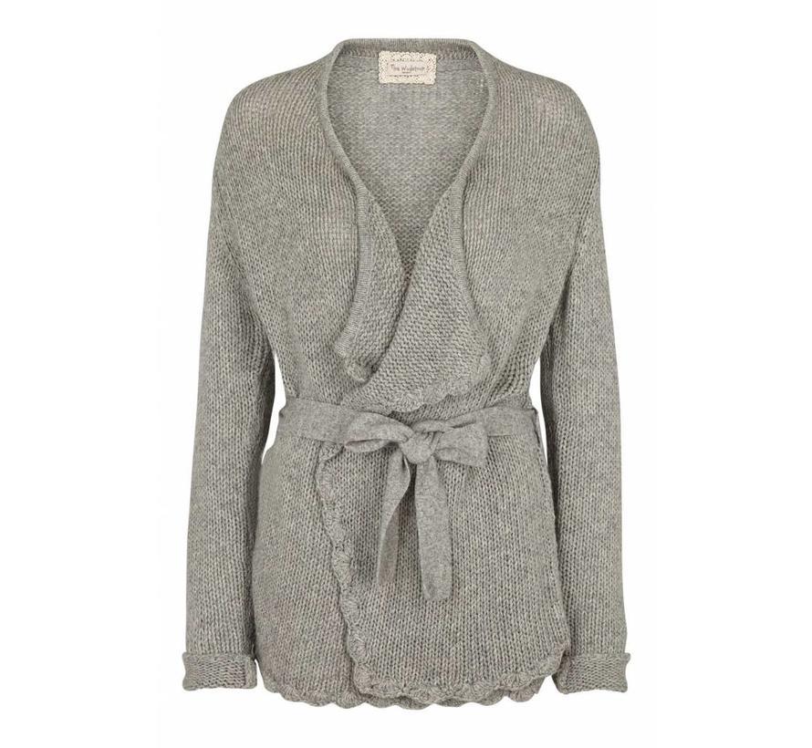 Strickjacke | Wool/Bamboo Jacket | Light grey