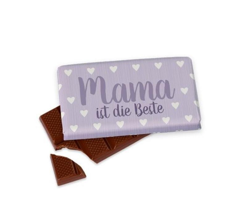 Tafelschokolade   Mama ist die Beste   Geschenkidee