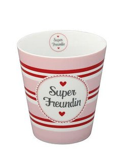 Krasilnikoff Tasse | Happy Mug | Super Freundin | New Design