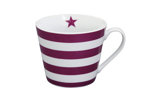 Krasilnikoff Tasse | Happy Cup | Striped Plum