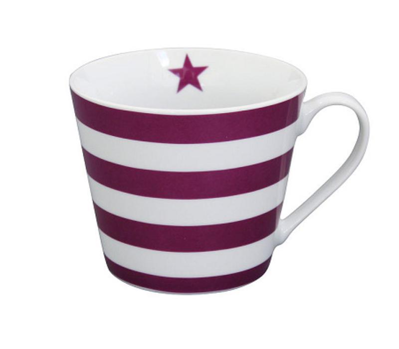 Tasse   Happy Cup   Striped Plum