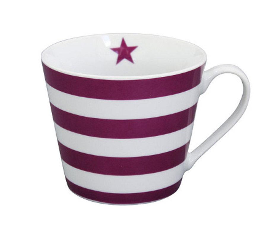 Tasse | Happy Cup | Striped Plum