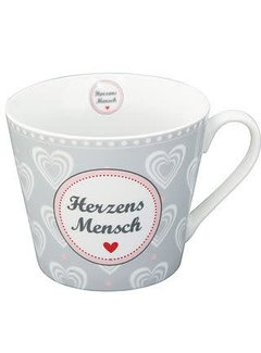 Krasilnikoff Tasse | Happy Cup | Herzens Mensch