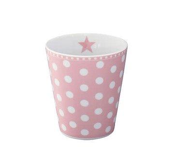 Krasilnikoff Tasse | Happy Mug | Dot Pink
