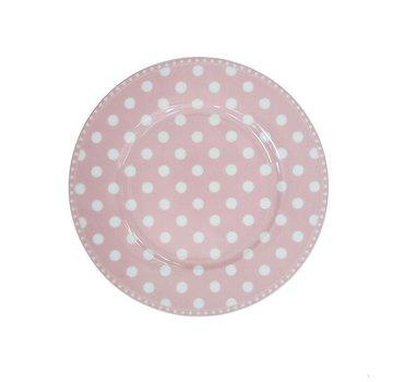 Krasilnikoff Dessertteller   Dessert Plate   Dot Pink