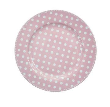 Krasilnikoff Speisetteller   Dinner Plate   Dot Pink