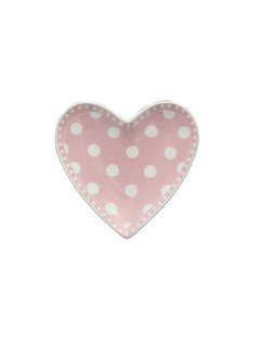 Krasilnikoff Teebeutel Teller | Heart Tray | Dot Pink