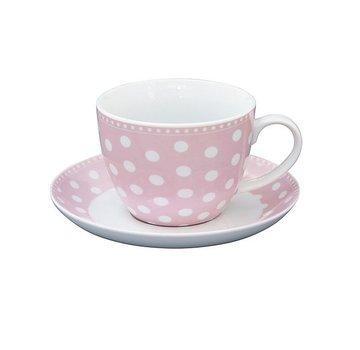 Krasilnikoff Tasse mit Unterteller | Cup and Saucer | Dot Pink