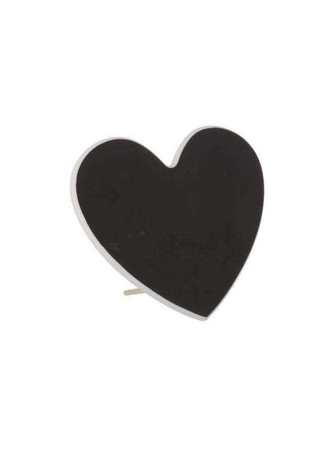 Herz Kreidetafel stehend | 25x22 cm