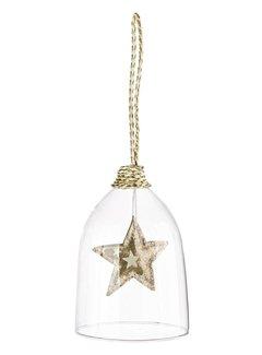 Weihnachtsdekoanhänger Glas | Stern