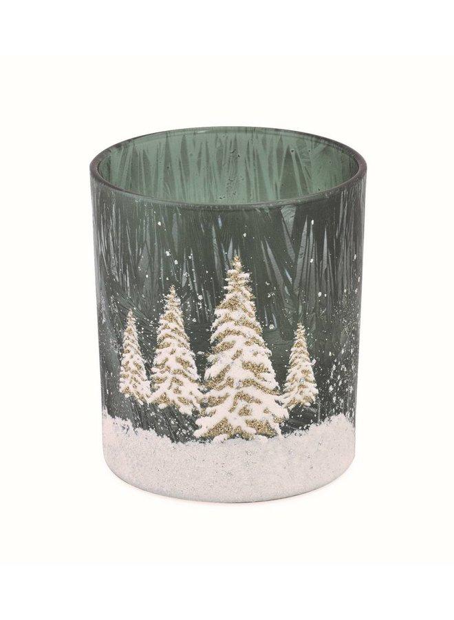 Teelichtglas Winterzauber | Gross