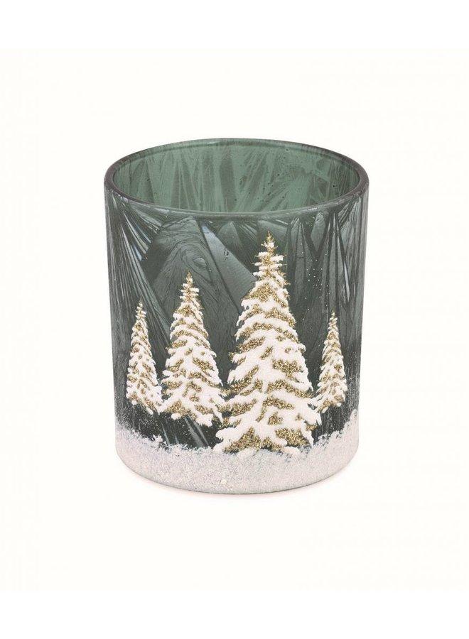 Teelichtglas Winterzauber | MIttel
